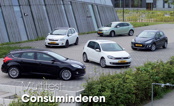 Multitest Ford Focus, Opel Astra, Peugeot 308, Toyota Auris, Volkswagen Golf