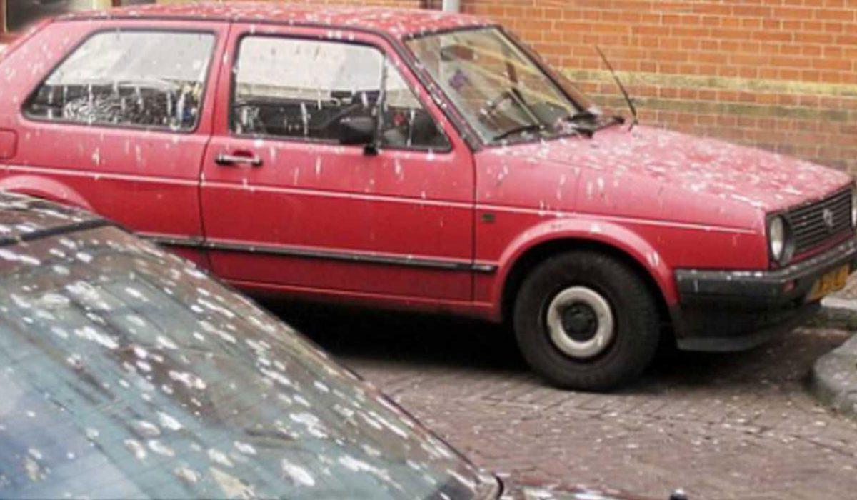 Rode Auto S Vaakst Slachtoffer Van Vogelpoep Carblogger