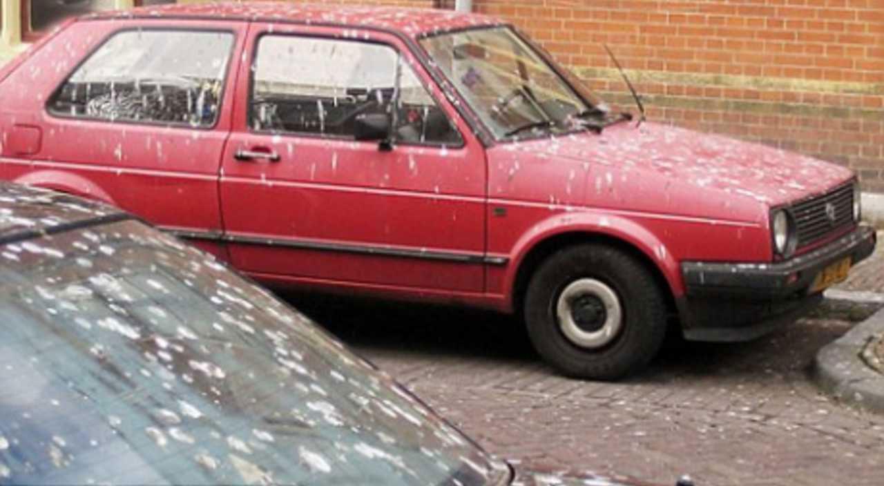 Rode auto's vaakst sla...