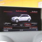 Audi A3 1.8 TFSI Drive select-scherm