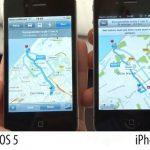 Navigatie Apple iOS 5 vs iOS 6