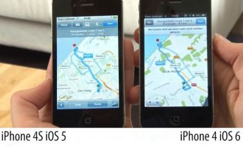 Navigatie Apple iOS 5 vs iOS 6