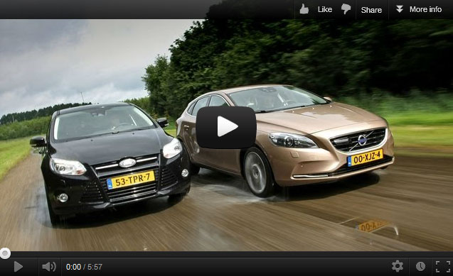 Volvo V40 T3 vs Ford Focus 1.6 Ecoboost (Bron: Autoweek)