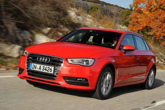 Audi A3 Sportback voorzijde