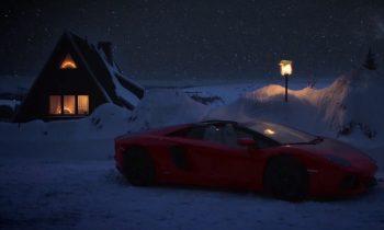 Lamborghini Aventador kerstman