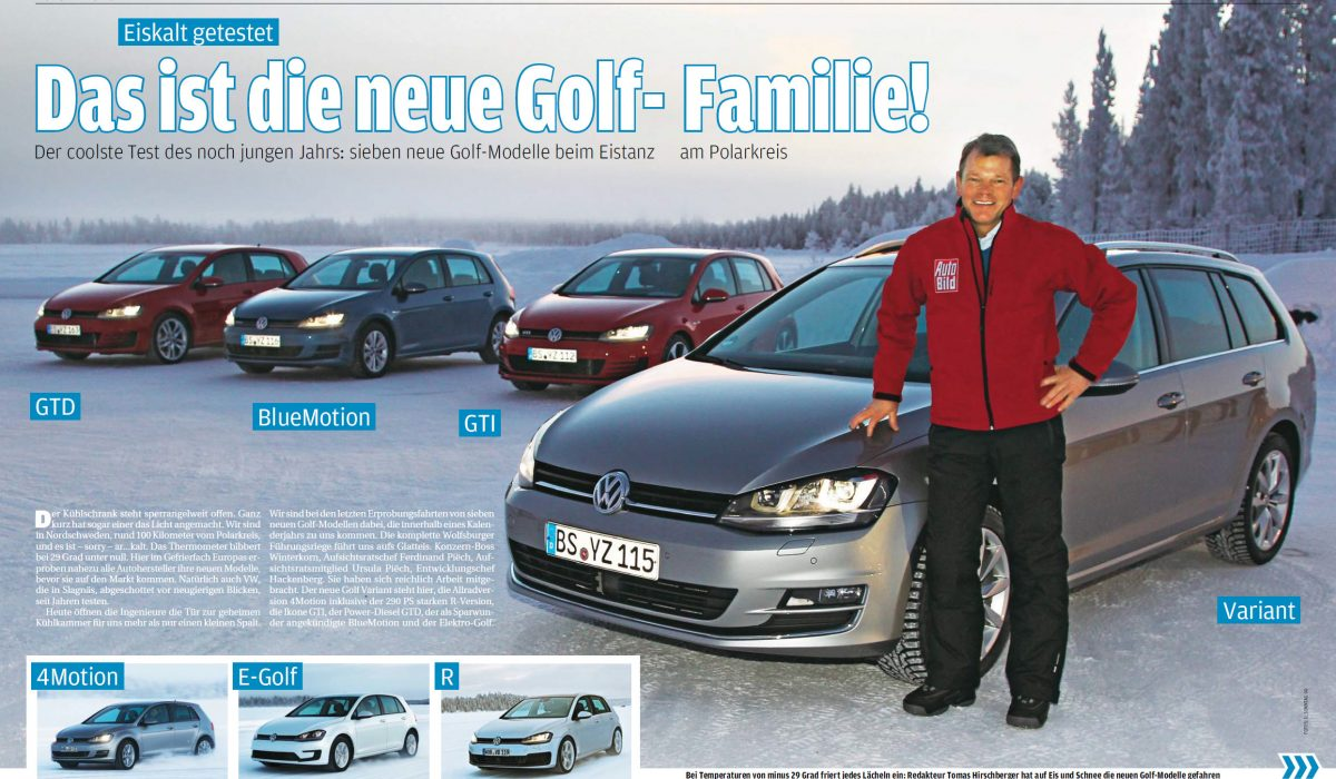 Autobild test nieuwe Golfversies