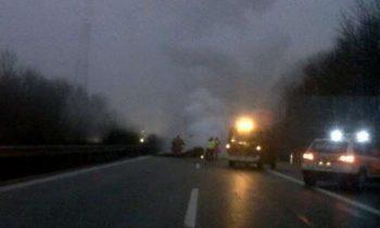 Heli crasht op Autobahn in Duitsland