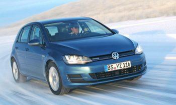 Volkswagen Golf 7 Bluemotion op testlocatie