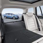 Neergeklapte achterbank Volkswagen Golf 7 Variant 2013