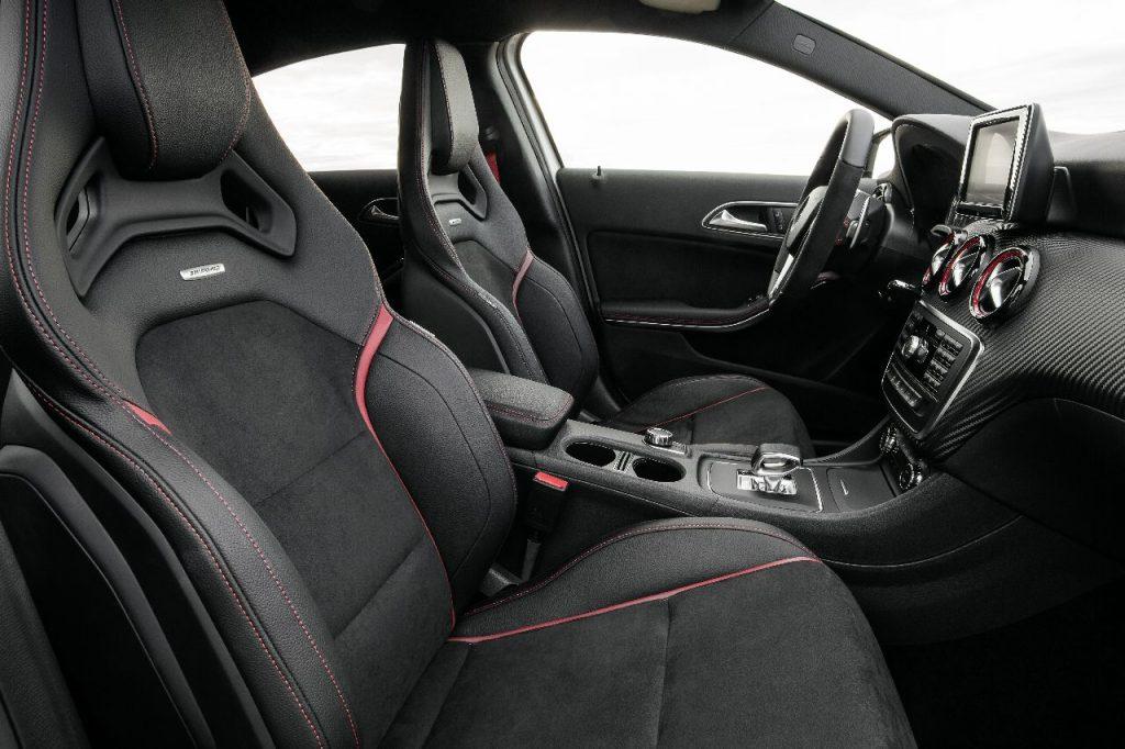 Interieur mercedes a klasse a45 amg voorstoelen carblogger for G klasse amg interieur