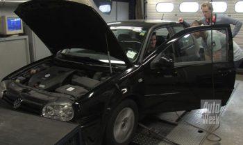 Volkswagen Golf4 op de rollenbank bij Beek Racing