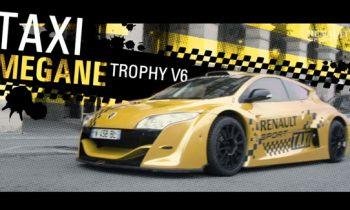 Renault Megane Trophy V6 as taxi in Paris