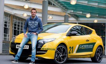 Giedo van der Garde met zijn Renault Mégane RS