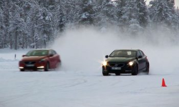 Test Volvo V40 winter in Zweden