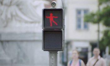 Dansend stoplichtmannetje