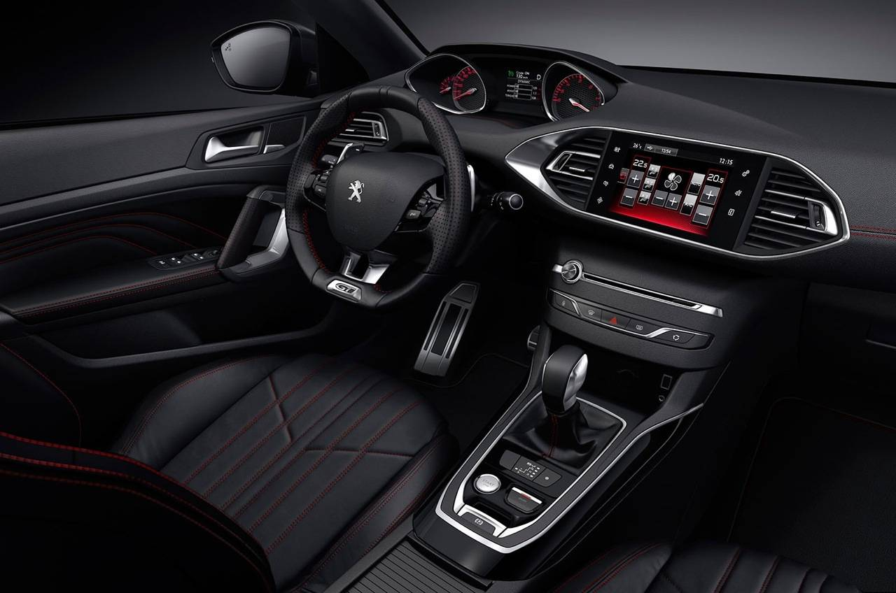 interieur peugeot 308 gt 2015 carblogger. Black Bedroom Furniture Sets. Home Design Ideas