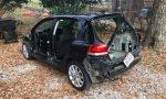 Gestripte, gestolen Volkswagen Golf