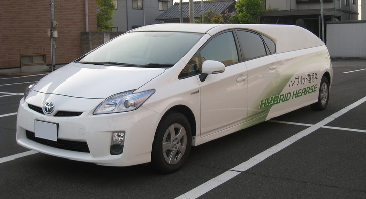 Toyota Prius lijkwagen
