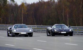 Porsche 918 vs Koenigsegg Agera R