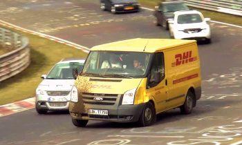 DHL-bus op de Nordschleife