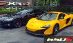 Tesla Model S vs McLaren 650S