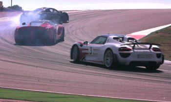 Test Mclaren P1 vs Porsche 918 Spyder vs Ferrari LaFerrari