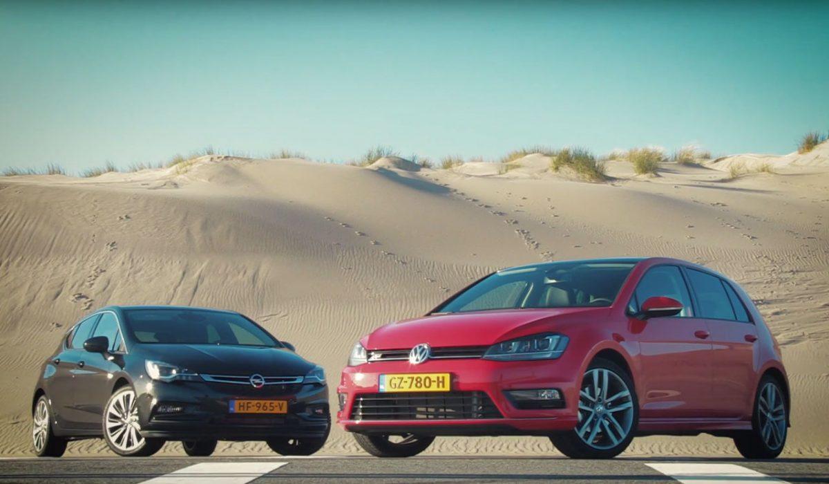 Test Opel Astra vs. VW Golf 7 2015