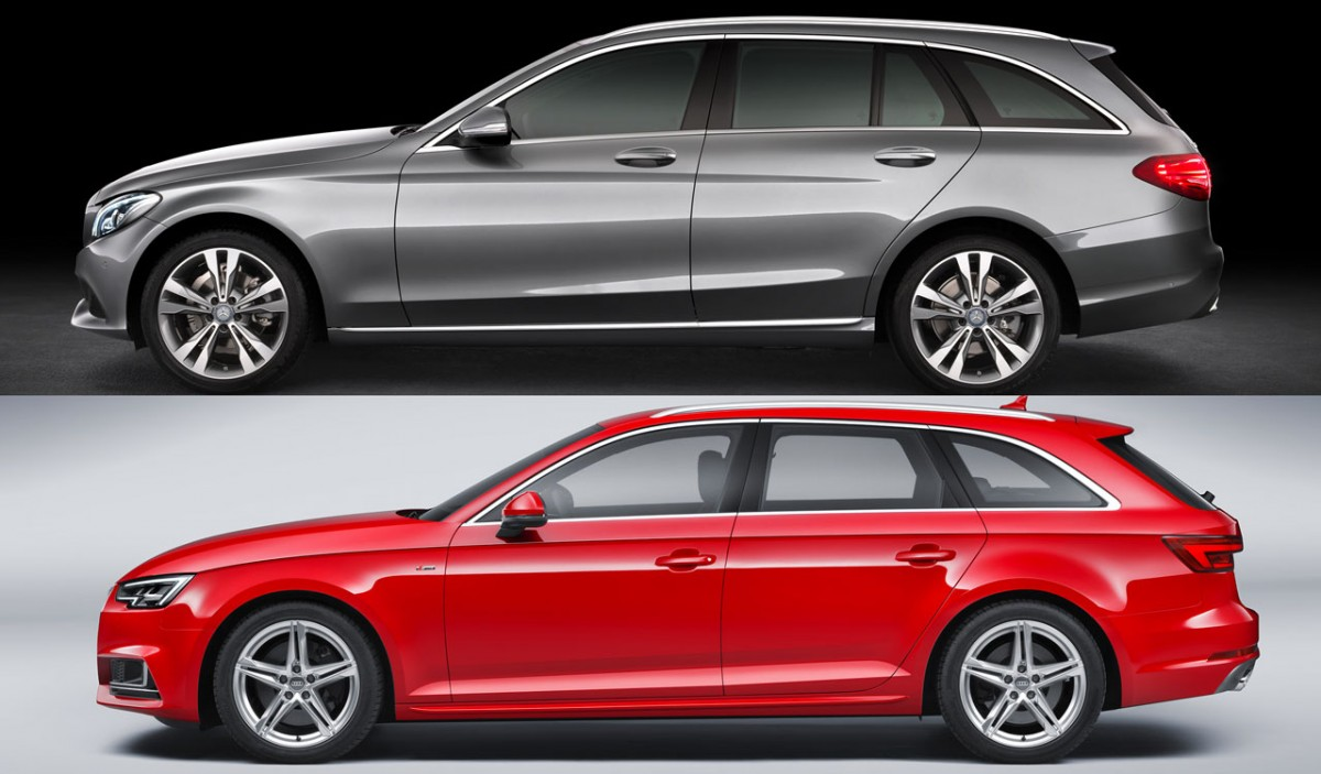 test audi a4 avant 2 0 tfsi vs mercedes c250 estate carblogger. Black Bedroom Furniture Sets. Home Design Ideas