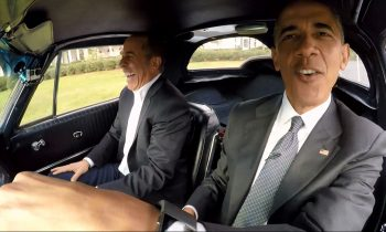 Barack Obama in de Corvette met Jerry Seinfeld