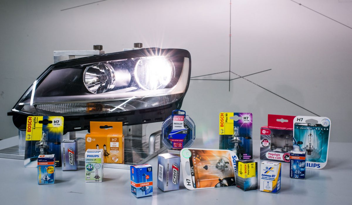 Test H7-autolampen
