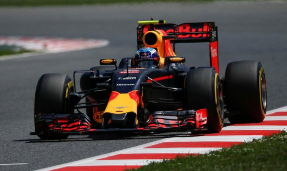 Max Verstappen in Red Bull Racing RB12
