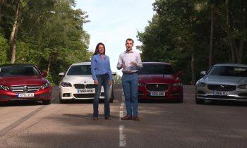 Test Volvo S90 vs Mercedes E220d vs BMW 520d vs Jaguar XF 2.0d