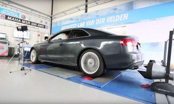 Audi S5 op vermogenstestbank Autotest-lab Van der Velden