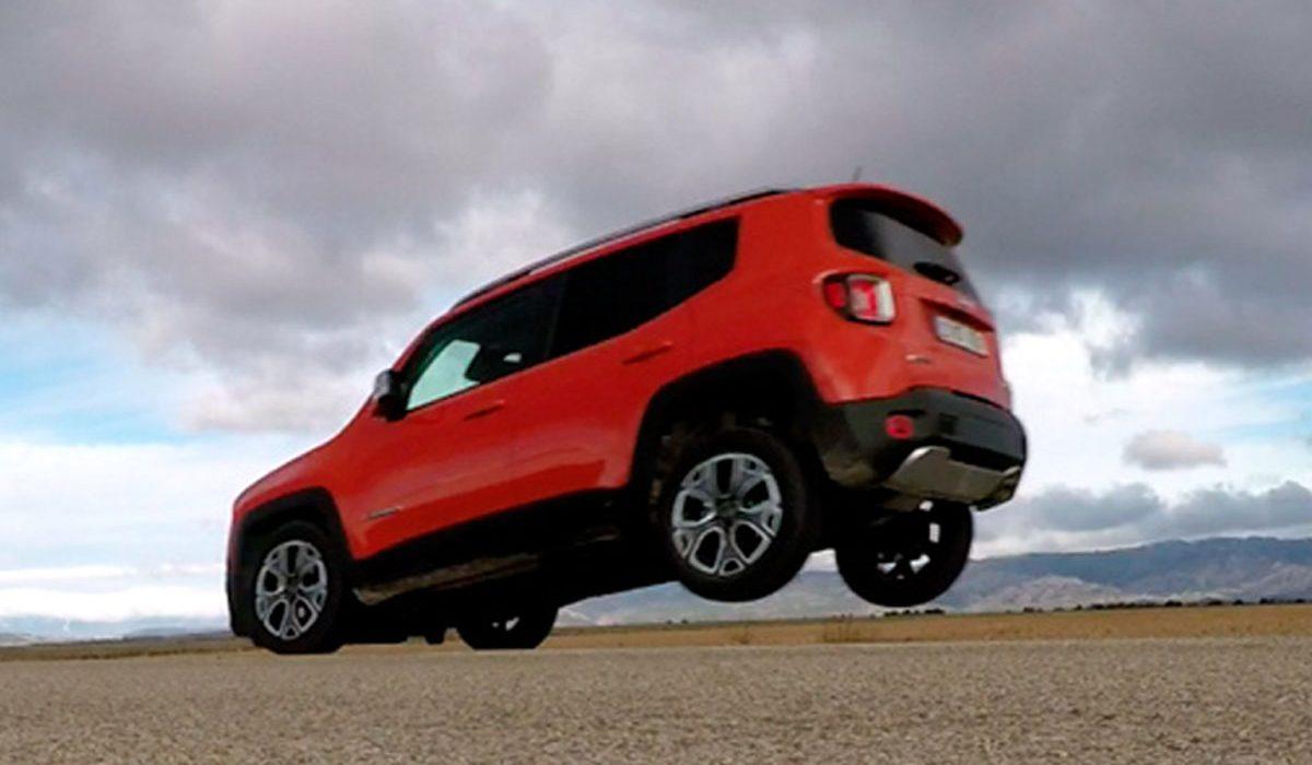 Jeep Renegade tilt achterkant op bij hard remmen