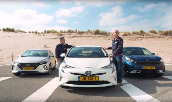 Vergelijkende test Toyota Prius, Hyundai Ioniq, Kia Niro