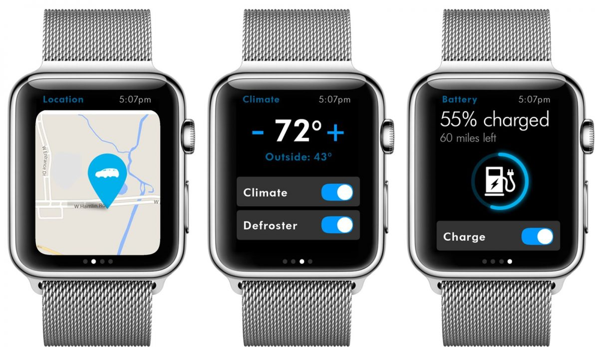 App Volkswagen Passat GTE op Apple Watch