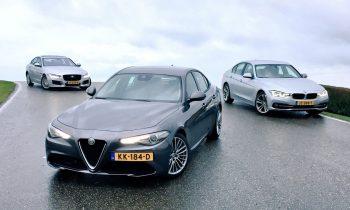 Test Alfa Romeo Giulia vs BMW 3-serie vs Jaguar XE