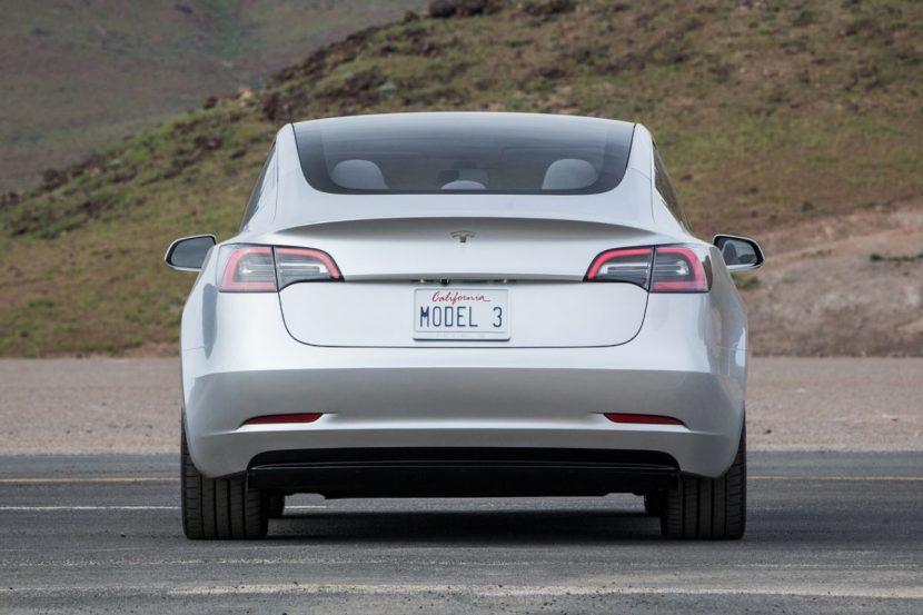 Tesla Model 3 2017 (achterkant)