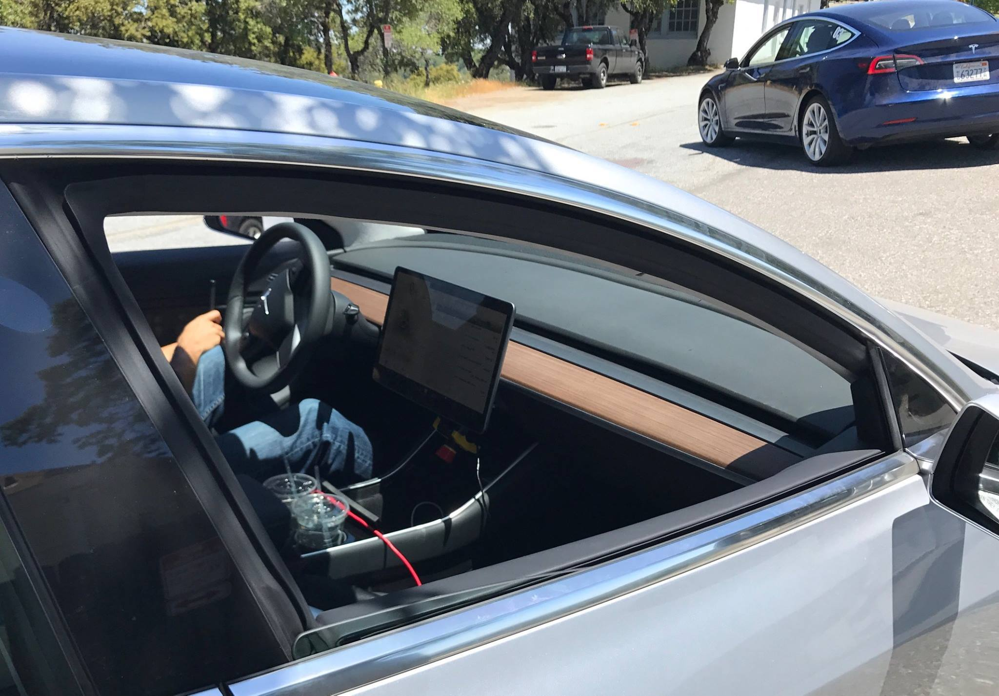 Tesla Model 3 interieur (spyshot)