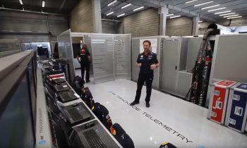 Christian Horner F1-pitbox