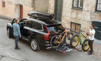 Fietsendrager voor 3 fietsen, op Volvo XC90 (Thule)