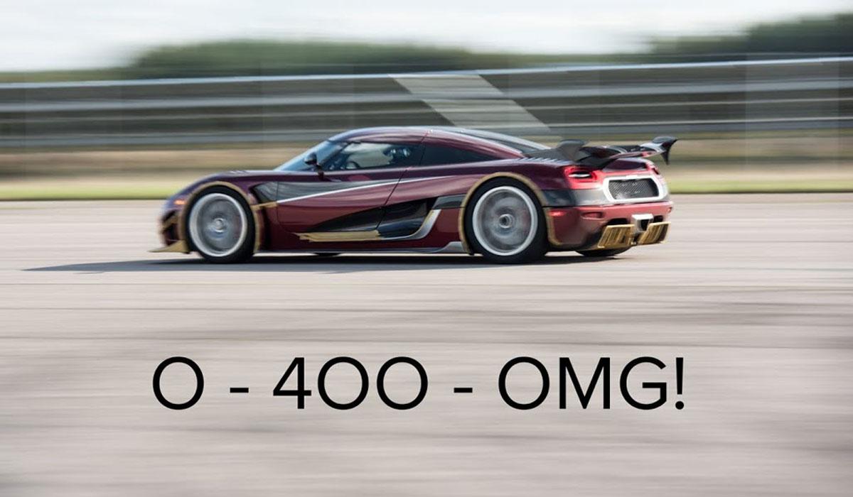 Koenigsegg Agera RS 0-400-0 km/h