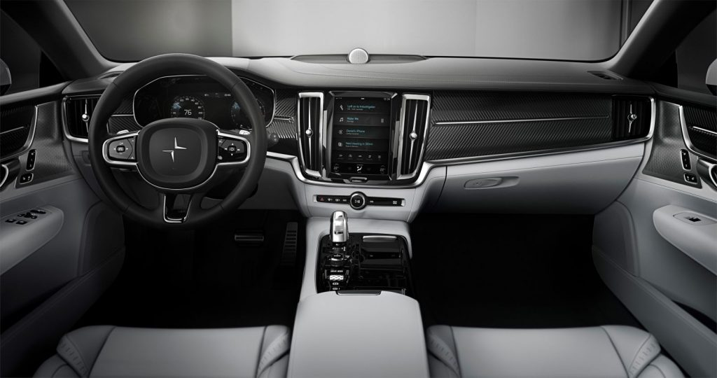 Polestar 1 interieur, dashboard