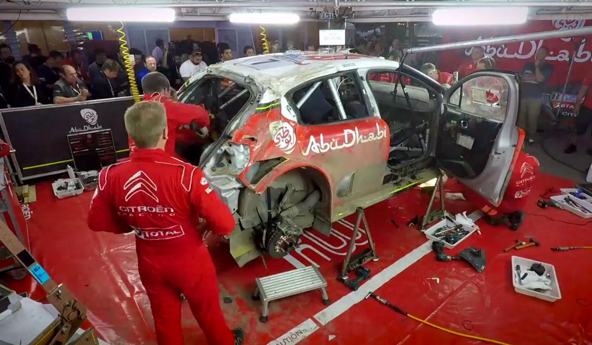 Citroen C3 WRC monteurs