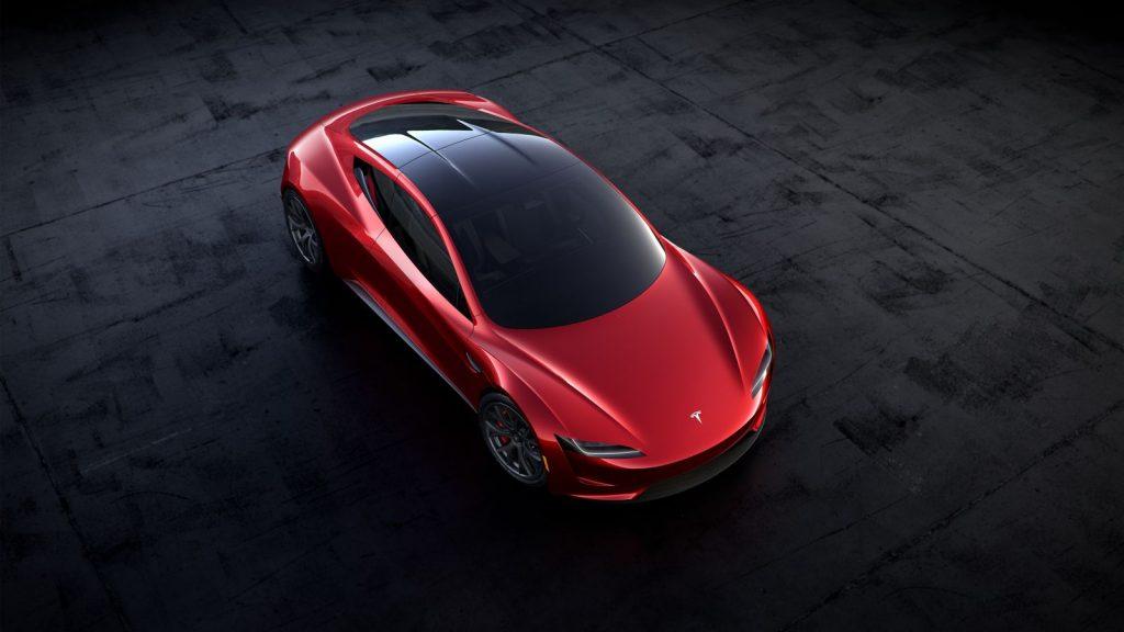 Tesla Roadster 2017 dak dicht