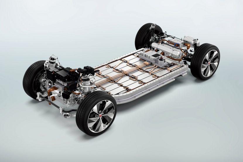 Aandrijflijn Jaguar i-Pace: accupakket en 2 elektromotoren