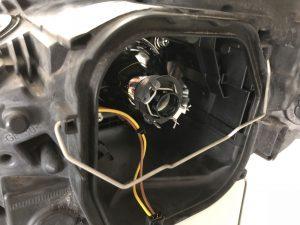 Voet H7-LED lamp geplaatst in koplampunit