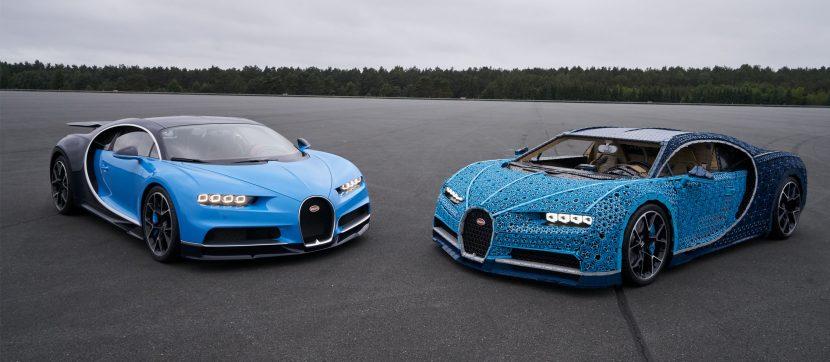 Bugatti Chiron vs. Bugatti van LEGO