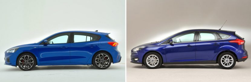 Nieuwe Ford Focus vs oude Ford Focus