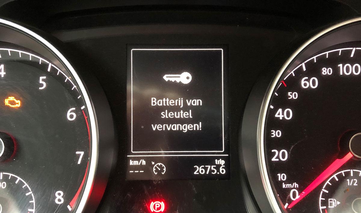 Batterij sleutel leeg Golf 7